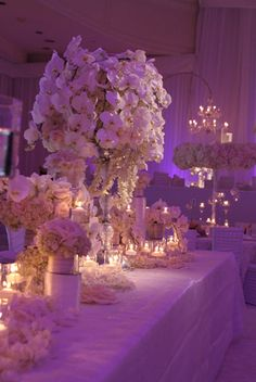 Orchid centerpieces at Beverly Wilshire wedding