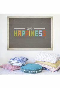 Choose Happiness Inspirational Art