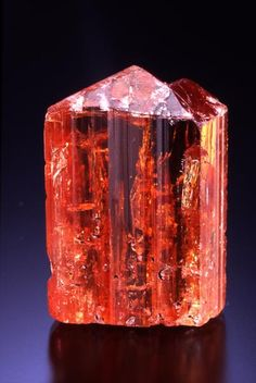Topaz - Red / Orange Variety - Minerals, Crystals, Gemstones, Natural Formations