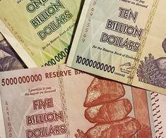 Zimbabwe Billion Dollar Bills