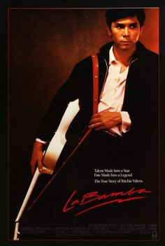 An original, rolled, one-sheet movie poster x from 1987 for La Bamba with Lou Diamond Phillips. Old Movies, Vintage Movies, Esai Morales, Ritchie Valens, Rock And Roll History, Rock Hits, English Play, Singing Career, Star Wars