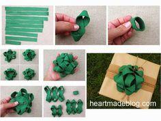 ARTESANATO COM QUIANE - Paps,Moldes,E.V.A,Feltro,Costuras,Fofuchas 3D: 5 ideias de flores de fitas passo a passo