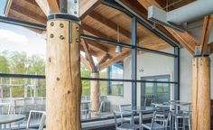 Timber Poles with Steel Joinery
