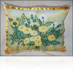 Silk painting-pillow