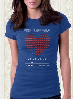 Heart Invaders T-Shirt Valentine's Day shirt. Couples shirt. Valentine gift.