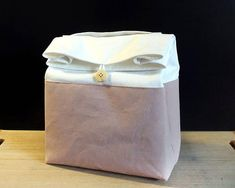 Zero waste lunch bag for women Blush pink lunch bag with