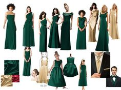 Karma Chamaeleon - bridesmaid colours : PANTONE WEDDING Styleboard : The Dessy Group
