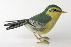 Fabric sculpture by Emily Sutton - for the mantelpiece Bird Sculpture, Soft Sculpture, Sculptures, Paper Birds, Fabric Birds, Fabric Art, Museum Of Childhood, Embroidered Bird, Lavender Bags