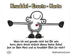 """sheepworld Postkarte – """"Knuddel-Ersatz-Karte"""""""