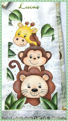Baby Zoo Animals, Cute Animals, Fabric Painting, Baby Quilts, Baby Knitting, Coloring Pages, Hello Kitty, Crafts For Kids, Drawings