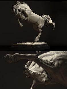 Horse study by mikkamakka 1000px      Artist Bogi Piroth aka Mikkamakka
