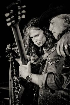 Steven Tyler ~ Brad Whitford Aerosmith concert Photo by: Zack Whitford