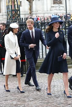 The royals arrive at the Commonwealth Day Service at Westminster Abbey in London this afte... #meghanmarkle #princeharry #katemiddleton