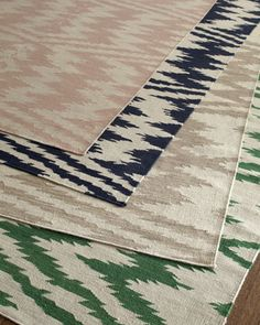 """Tavish"" Rug by Genevieve Gorder at Horchow. I LOVE that emerald green... wow."