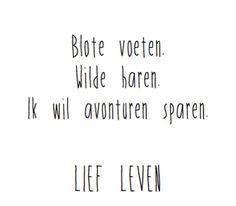 Lief leven! - Reisquote