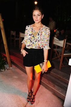 love..love..love the blouse and dressy shorts, clutch, shoes.. everything is just so cute.