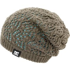 Add some two for one style with the DC girls Zina grey and mint reversible beanie. Grab a versatile look of the reversible slouch fit beanie with a loose knit crochet grey colorway, tight knit mint colorway on the reverse side, and a black DC brand tag embroidered on the hem.
