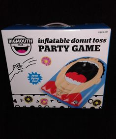 Big Mouth Toys Inflatable Delicious Donut Cornhole Toss Set for sale online Donut Games, Delicious Donuts, Toss Game, Donut Party, Ice Cream Party, Valentines Day Party, Activity Games, Cornhole, Pta