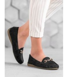 Mokasíny s ozdobou Slippers, Flats, Shoes, Fashion, Loafers & Slip Ons, Moda, Zapatos, Shoes Outlet, Fashion Styles