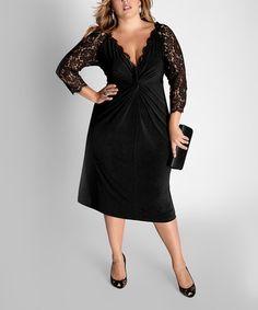 This Black Venice Midi Dress - Plus by IGIGI is perfect! #zulilyfinds