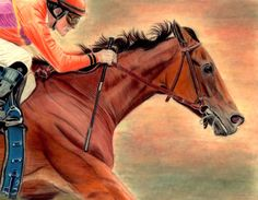 """Teamwork"" of Gary Stevens riding Beholder to victory in the Adoration"