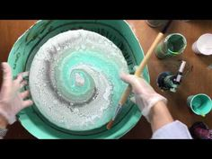 ( 021 ) Acrylic pouring a different way - YouTube