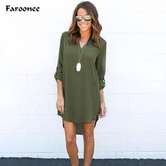 Faroonee Plus 5XL Vestidos Femininos Chiffon Blouse Women Brand Clothing V-neck Loose Half Sleeve Casual Tops Shirts 6Q0046