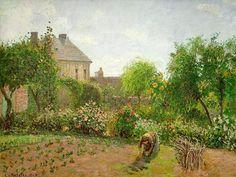Camille Pissarro「The Artist's Garden at Eragny」(1898)