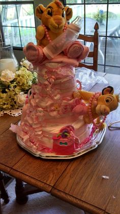 Lion King Diaper Caker For My Daughter In Law Who Is Having A Girl. Baby  Shower ...