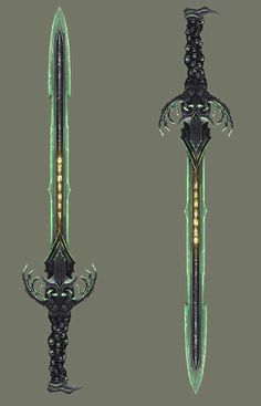 ArtStation - The Dame's Sword, Connor Sheehan Fantasy Sword, Fantasy Armor, Fantasy Weapons, Medieval Fantasy, Dark Fantasy, Anime Weapons, Sci Fi Weapons, Weapon Concept Art, Sword Hilt