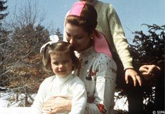Princess Stephanie with her mother