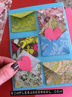 #valentine #crafts #cards #handmade  Make a 'Love Notes' Valentine's Day Card   by Dimples + Drool