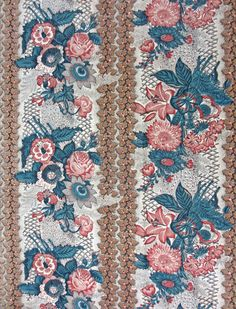 Place of Origin: England, United Kingdom, Europe Date: Materials: Cotton Techniques: Woven (plain), Cylinder printed, Mordant style Textile Patterns, Textile Prints, Textile Design, Fabric Design, Print Patterns, Antique Quilts, Vintage Textiles, Textile News, Chintz Fabric