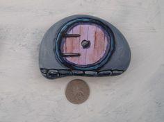 Violet Hobbithole Door Ideal for a fairy garden/plant pot