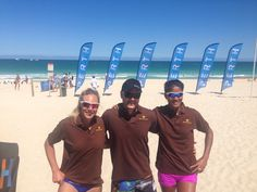 WINNERS!  #TeamSY Sange & Yupa straight through to the quarter finals after a great WIN this morning.  Renault National Beach Volleyball series 2014  Scarborough Beach, Western Australia.  Banana Peel Flip Flops LOVE you ladies!