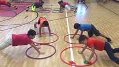 Students love this Four Square Hula Hoop activity! It works on teamwork, fitness, spatial awareness, and underhand throwing skills. It's a competitive