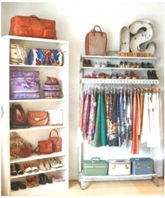 Stunning Storage Ideas For Small Apartment Spaces - Page 36 of 37 Bedroom Organisation, Organization, Organizing, Small Apartments, Small Spaces, Closet Hacks, Closet Ideas, Spare Bedroom Closets, Ikea Closet Organizer