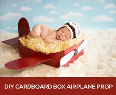 Make a DIY Box Airplane Prop for Newborn Photography