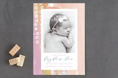 Crushin Birth Announcements by Penelope Poppy at minted.com