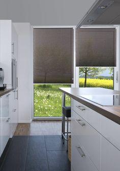 Sensuna Plissees Fenster Sichtschutz Küche