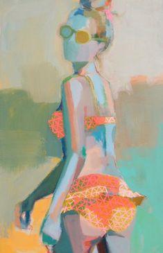 Beach Flirt by Teil Duncan Mc Escher, Figure Painting, Figure Drawing, Life Drawing, Painting Inspiration, Art Inspo, Arte Cyberpunk, Art Populaire, Art Plastique