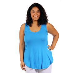 ~~pinned from site directly~~ . . . 24/7 Comfort Apparel Women's Plus-Size Racerback Tunic