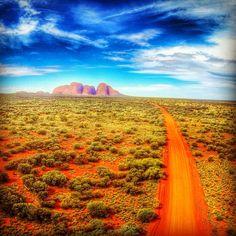 Kata Tjuta from the air. Discovered by Laurent Youmi at Kata Tjuta, Petermann, #Australia #travel