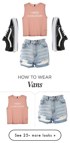 """""""vacation?"""" by autumn-marie27 on Polyvore featuring Topshop and Vans"""