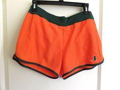 NWT Women's Orange Miami Hurricanes Sprint Compression Shorts #ColosseumAthletics #MiamiHurricanes
