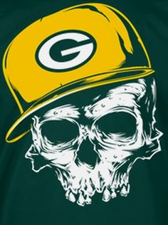 Green Bay Packers Sugar Skull With Cheese Eyes Svg Cutting