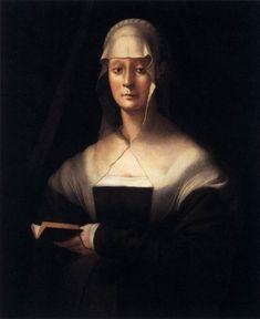 Portrait of Maria Salviati (1537-43). Jacopo Pontormo(Italian, 1494-1557). Oil on wood.Galleria degli Uffizi, Florence. Maria Salviati (14...