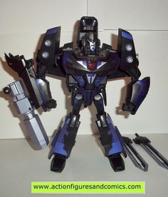 Takara / Hasbro toys TRANSFORMERS animated action figures for sale to buy 2008 leader class, SHADOW BLADE MEGATRON 100% COMPLETE Condition: Excellent - nice paint, nice joints - absolutely nothing bro Transformers Megatron, Transformers Action Figures, Transformers Collection, Figure Size, Toy Store, Blade, Animation, Robots, Bro