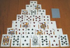 The 10 Best Solitaire Card Games: Pyramid Solitaire Card Games For One, Family Card Games, Fun Card Games, Playing Card Games, Fun Games, Dice Games, Solitaire Cards, Play Solitaire, Pyramid Solitaire