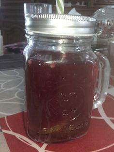 Thé Myrtille Vanille : 1 sachet de thé vanille  20 myrtille vascinium  2 tranches de citron vert